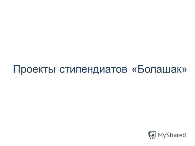 Проекты стипендиатов «Болашак»