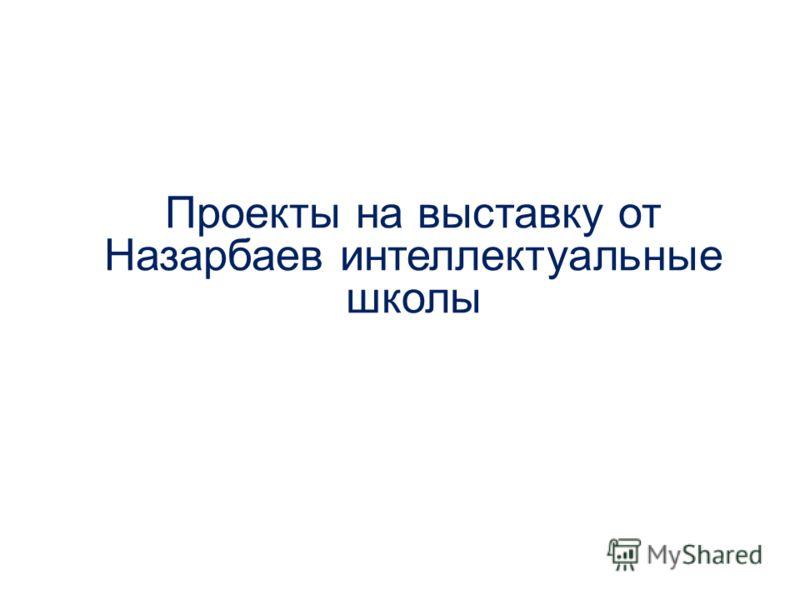 Проекты на выставку от Назарбаев интеллектуальные школы