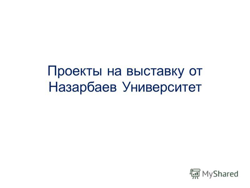 Проекты на выставку от Назарбаев Университет