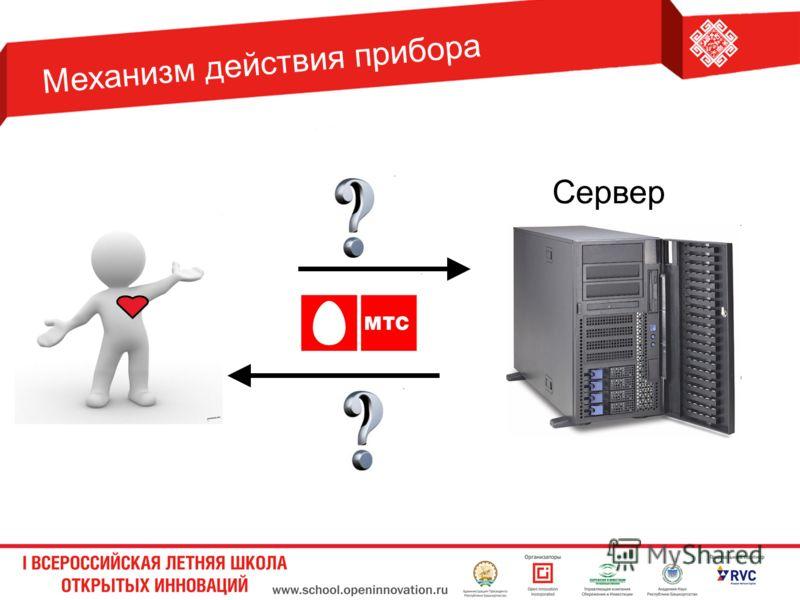 Механизм действия прибора Сервер