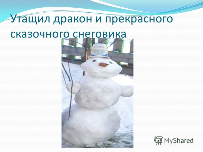 Утащил дракон и прекрасного сказочного снеговика