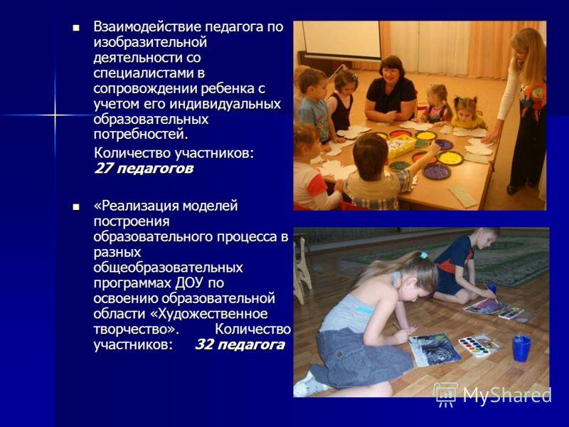 Взаимодействие педагога по изобразительной деятельности со специалистами в сопровождении ребенка с учетом его индивидуальных образовательных потребностей. Взаимодействие педагога по изобразительной деятельности со специалистами в сопровождении ребенк