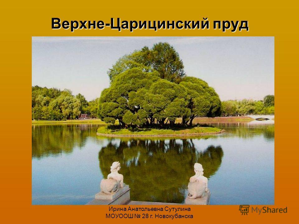 Ирина Анатольевна Сутулина МОУООШ 28 г. Новокубанска Верхне-Царицинский пруд