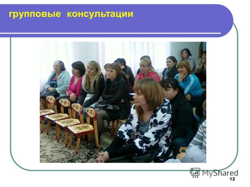 12 групповые консультации