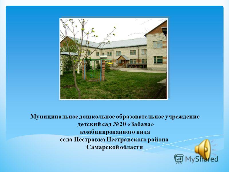 Муниципальное дошкольное образовательное учреждение детский сад 20 «Забава» комбинированного вида села Пестравка Пестравского района Самарской области