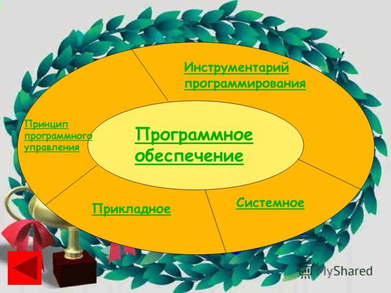 Программное обеспечение Инструментарий программирования Системное Прикладное Принцип программного управления