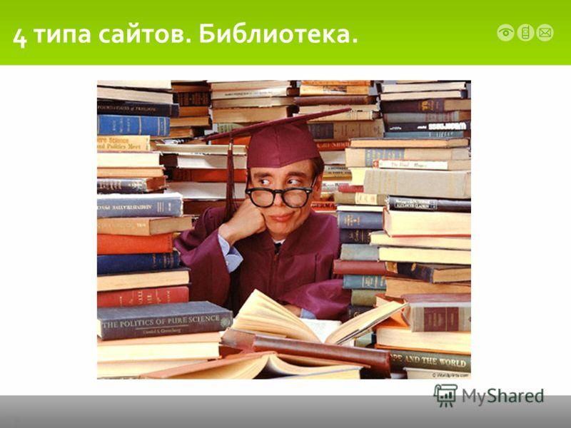 4 типа сайтов. Библиотека.