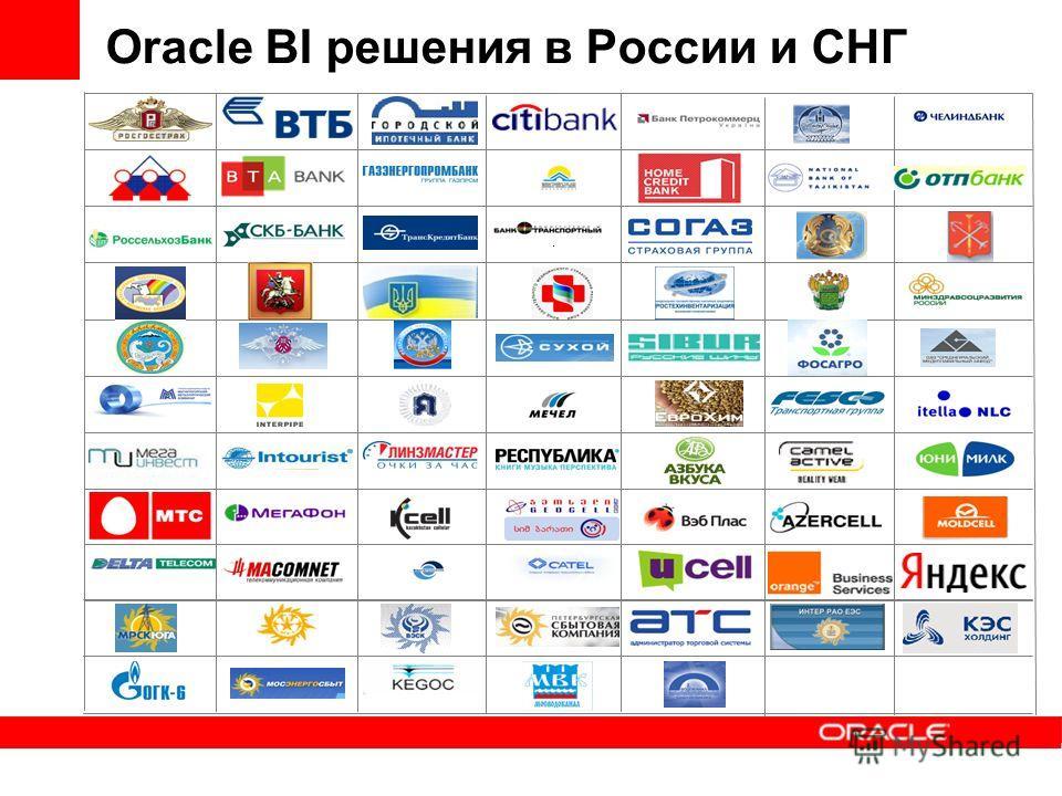Oracle BI решения в России и СНГ