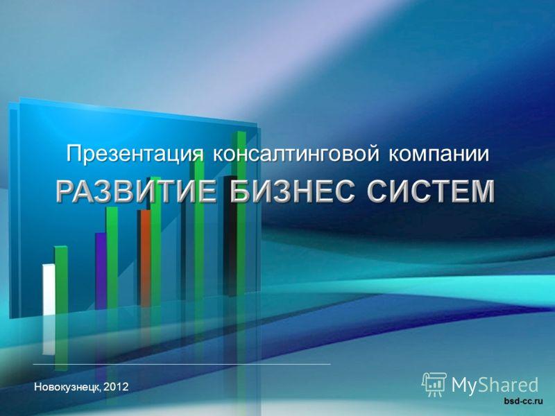 Презентация консалтинговой компании Новокузнецк, 2012