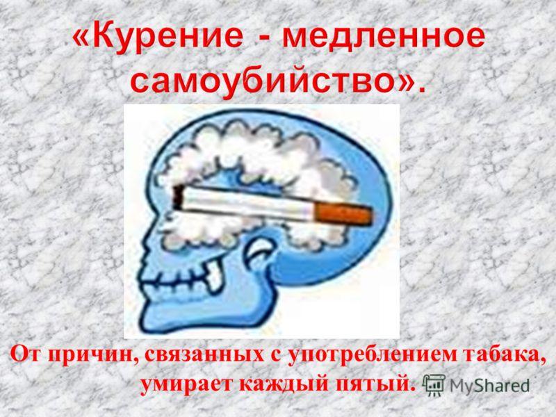 От причин, связанных с употреблением табака, умирает каждый пятый.