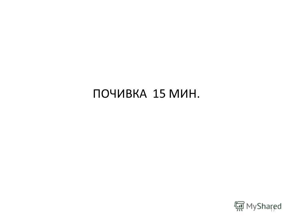 ПОЧИВКА 15 МИН. 17