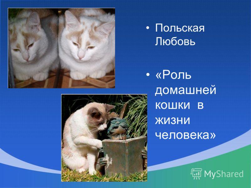 Польская Любовь «Роль домашней кошки в жизни человека»