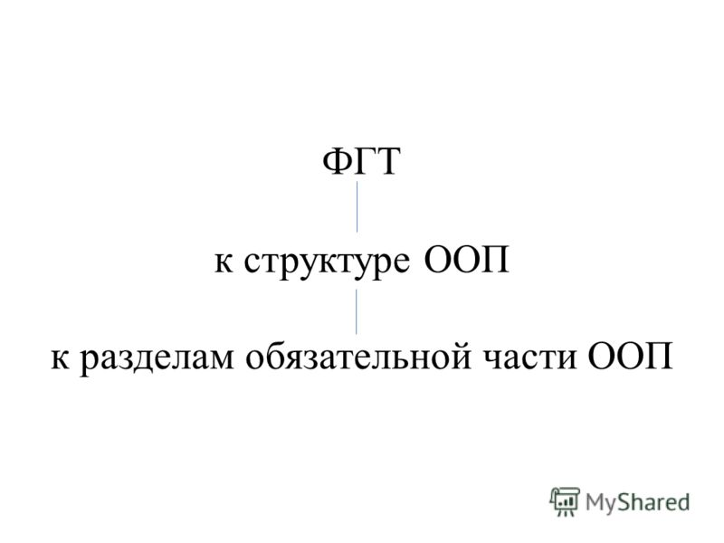 ФГТ к структуре ООП к разделам обязательной части ООП