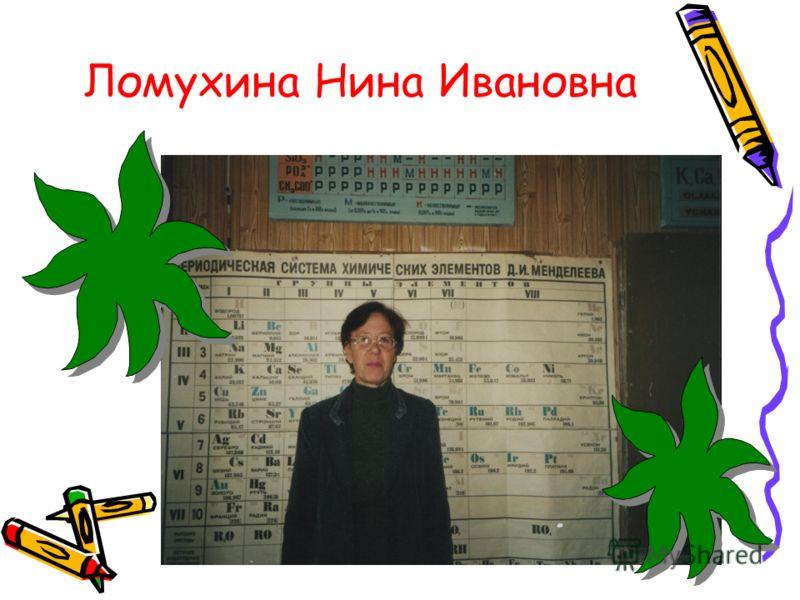 Ломухина Нина Ивановна