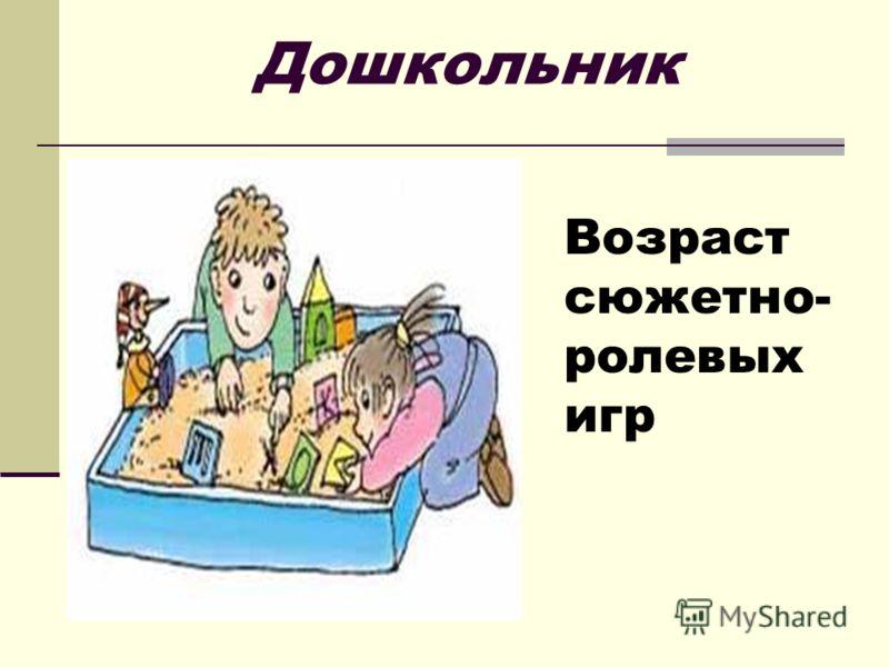 Дошкольник Возраст сюжетно- ролевых игр