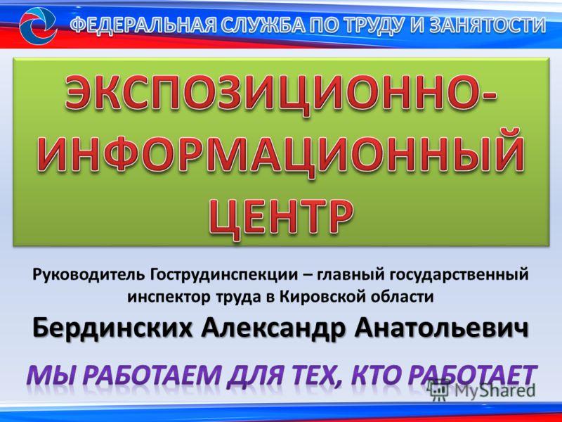 Руководитель Гострудинспекции – главный государственный инспектор труда в Кировской области Бердинских Александр Анатольевич