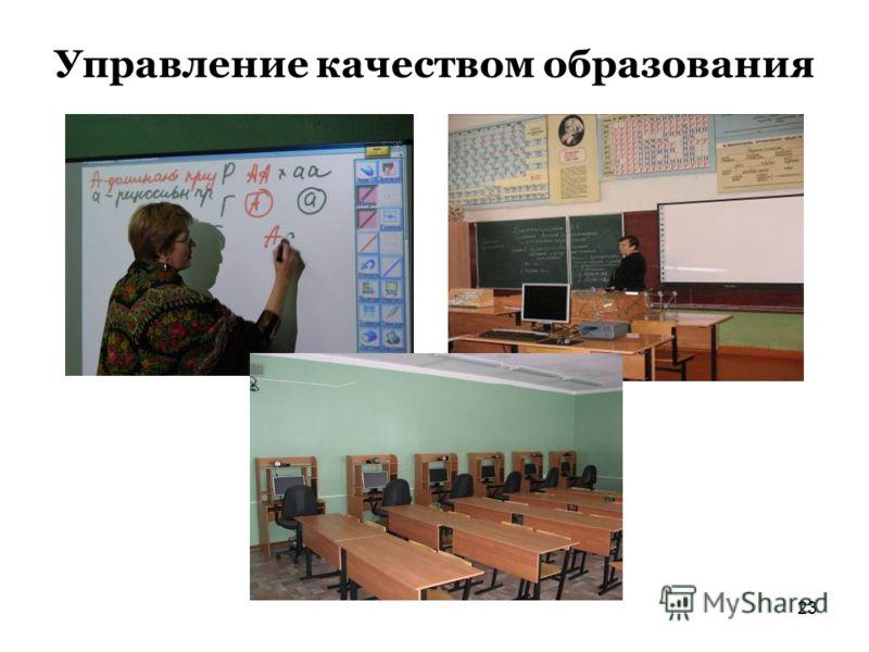 23 Управление качеством образования