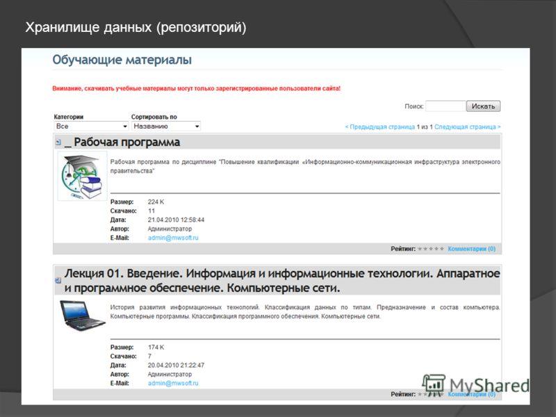 Хранилище данных (репозиторий)