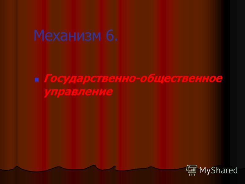 Механизм 6. Государственно-общественное управление