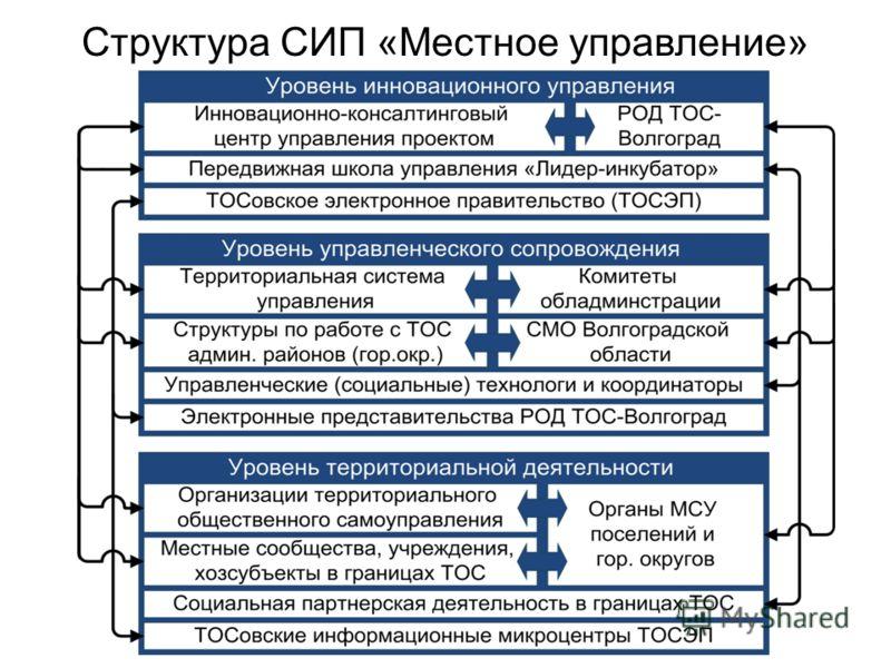 Структура СИП «Местное управление»