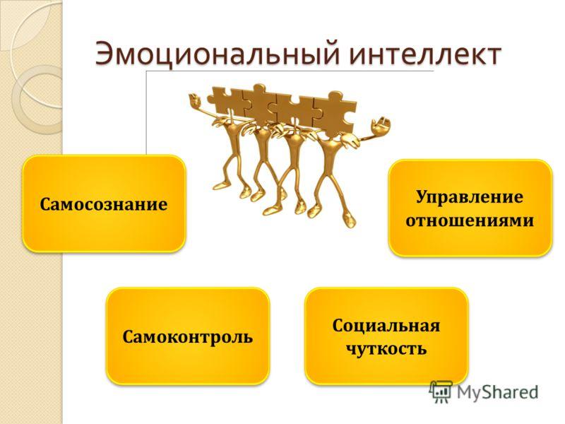 Эмоциональный интеллект Самоконтроль Самосознание Социальная чуткость Управление отношениями