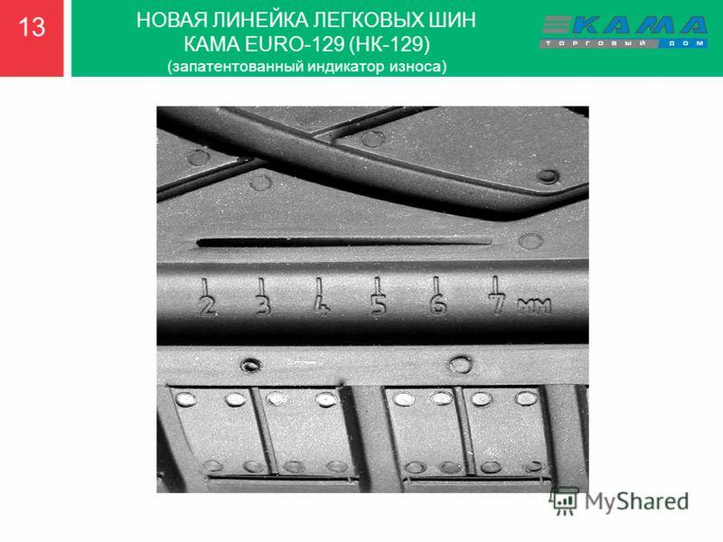 13 НОВАЯ ЛИНЕЙКА ЛЕГКОВЫХ ШИН КАМА EURO-129 (НК-129) (запатентованный индикатор износа)