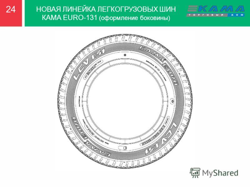2424 НОВАЯ ЛИНЕЙКА ЛЕГКОГРУЗОВЫХ ШИН КАМА EURO-131 (оформление боковины)