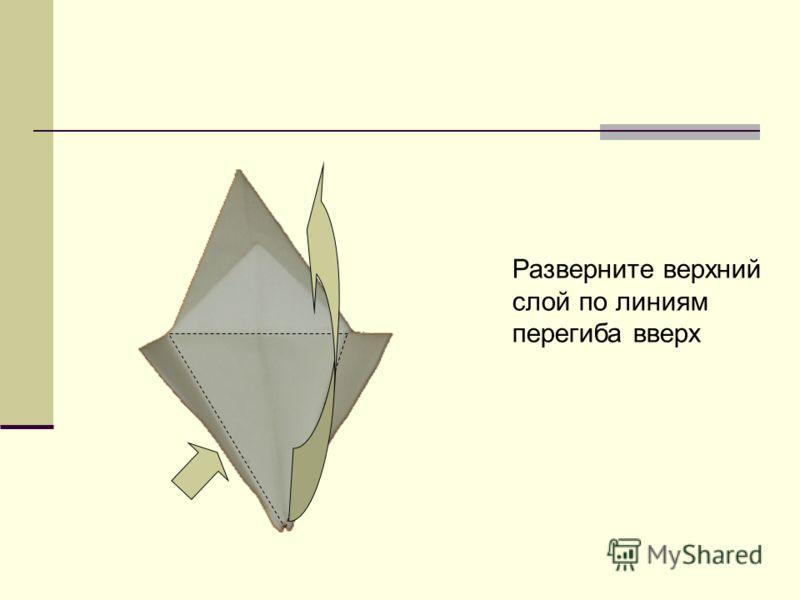 Разверните верхний слой по линиям перегиба вверх