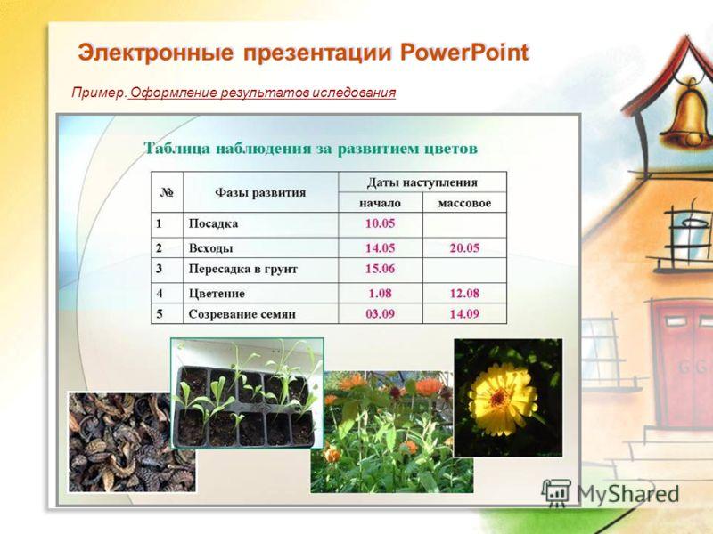 Электронные презентации PowerPoint Пример. Оформление результатов иследования