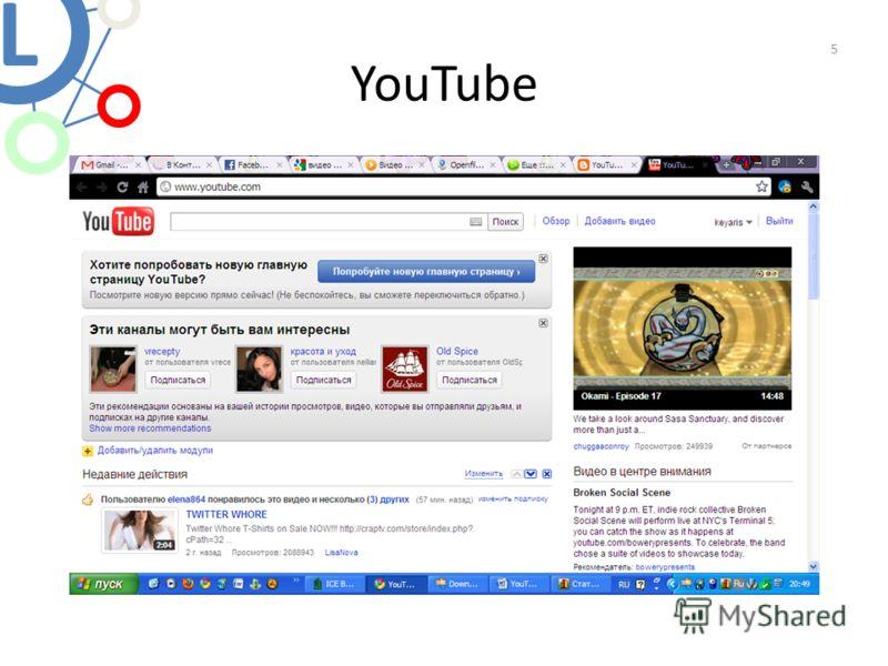 YouTube 5 L