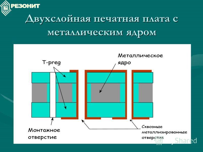 Двухслойная печатная плата с металлическим ядром