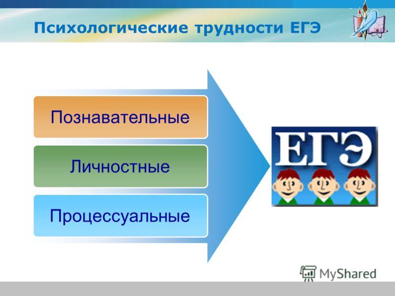 www.themegallery.com Company Logo Познавательные Личностные Процессуальные Психологические трудности ЕГЭ