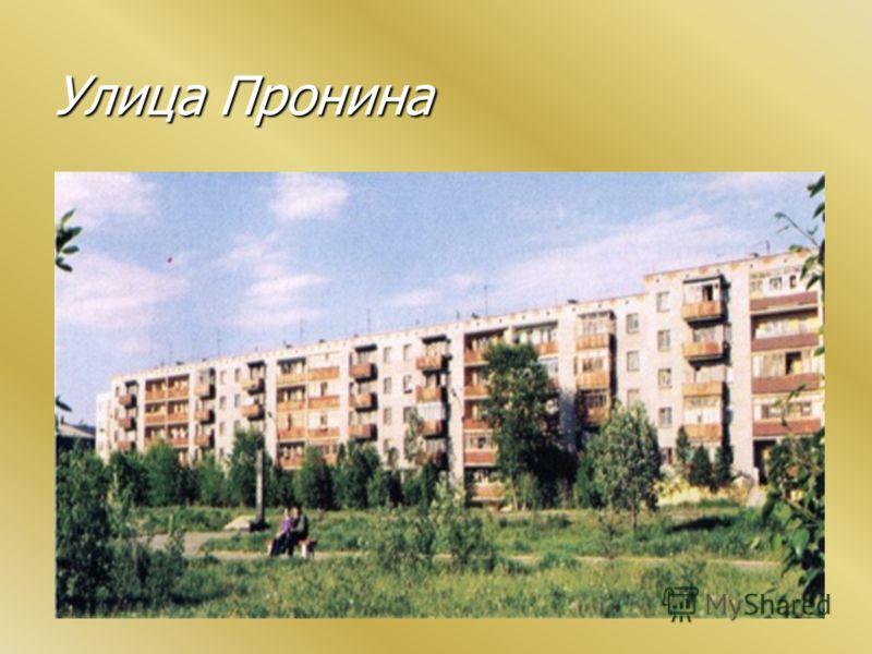 Улица Пронина