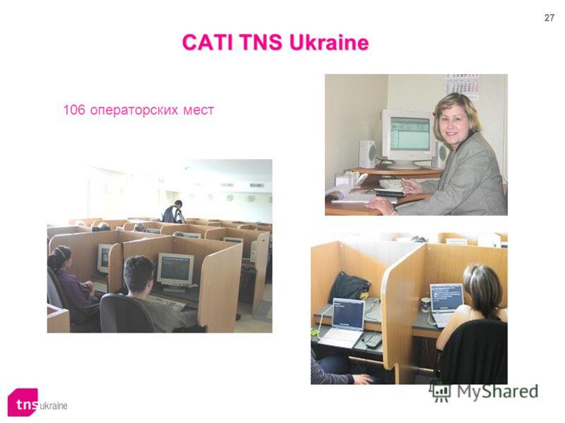 27 106 операторских мест CATI TNS Ukraine