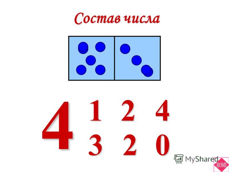Состав числа 4 41 023 2
