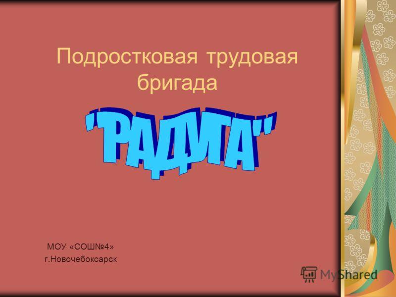 Подростковая трудовая бригада МОУ «СОШ4» г.Новочебоксарск