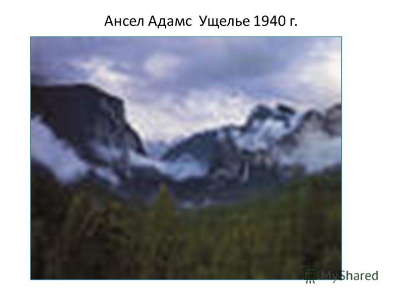 Ансел Адамс Ущелье 1940 г.