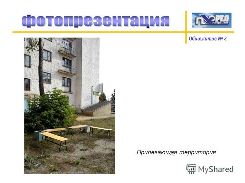 Общежитие 3 Прилегающая территория