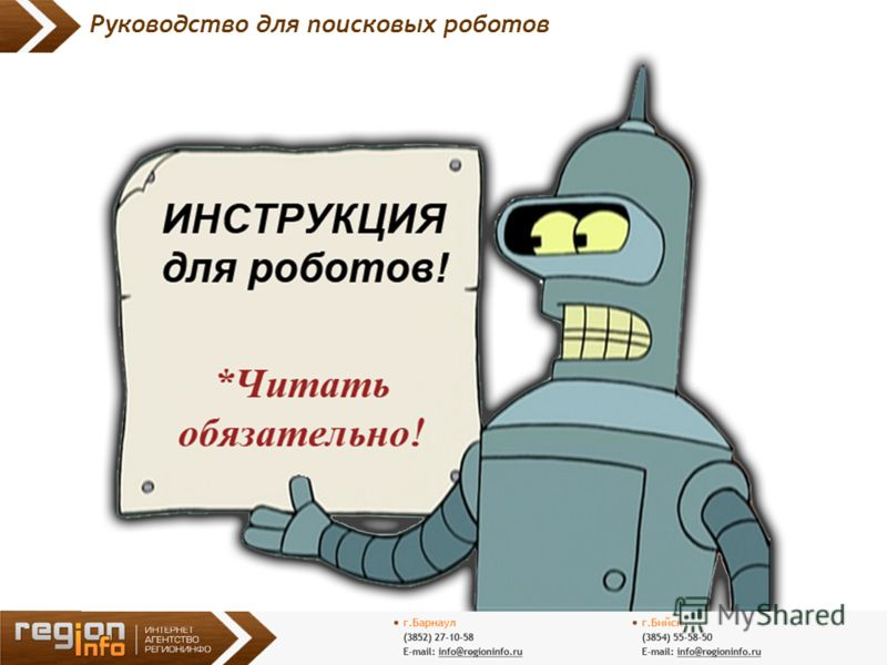 11 Руководство для поисковых роботов