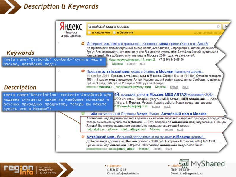 5 Description & Keywords Description Keywords