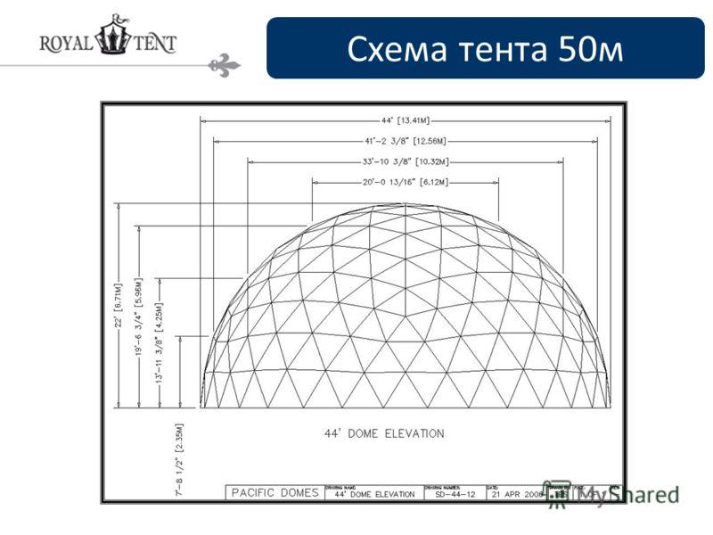 Схема тента 50м