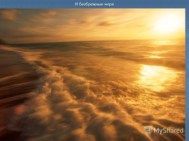 И безбрежные моря