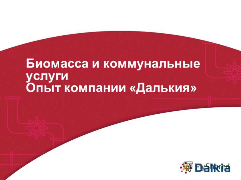 Биомасса и коммунальные услуги Опыт компании «Далькия»