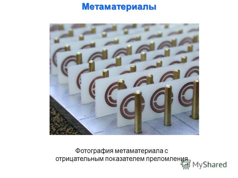 Фотография метаматериала с отрицательным показателем преломления Метаматериалы