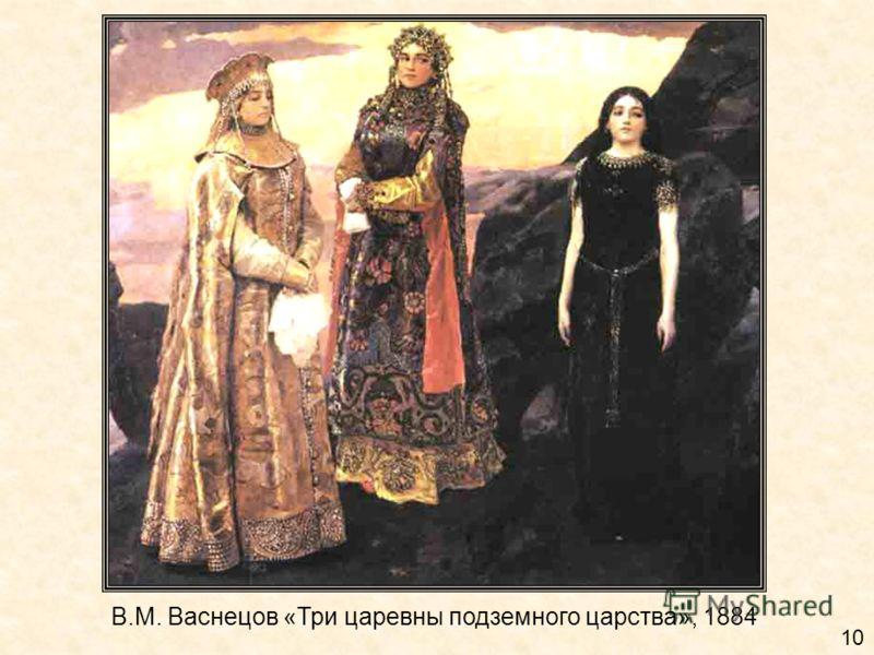В.М. Васнецов «Три царевны подземного царства», 1884 10