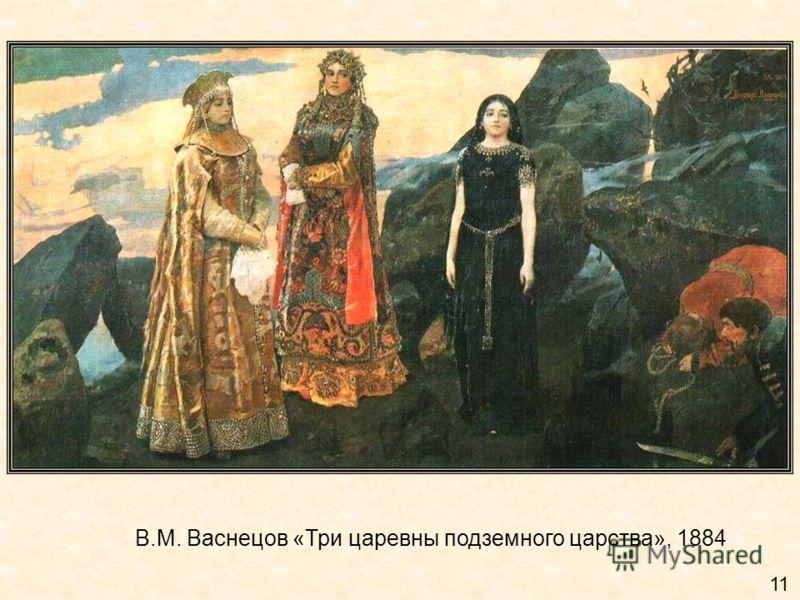 В.М. Васнецов «Три царевны подземного царства», 1884 11