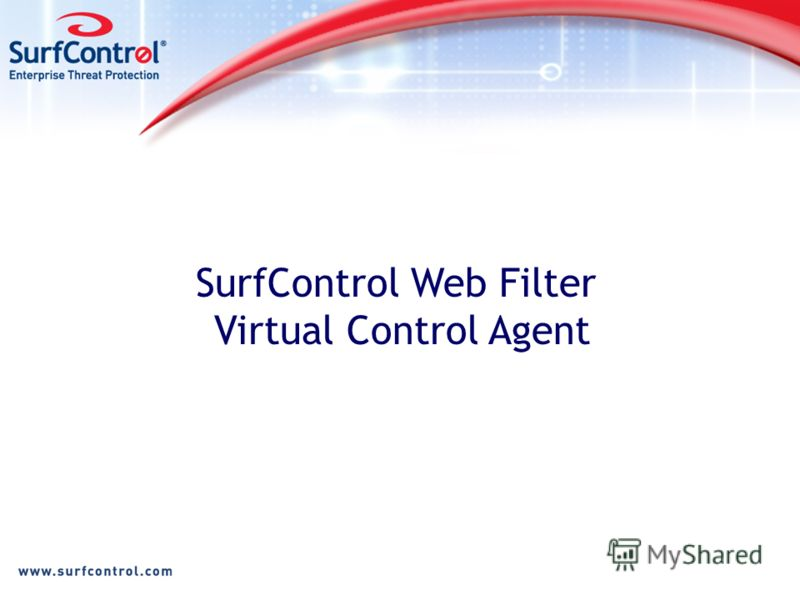 SurfControl Web Filter Virtual Control Agent
