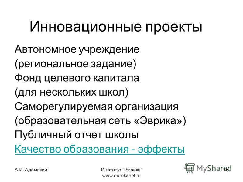 А.И. АдамскийИнститут
