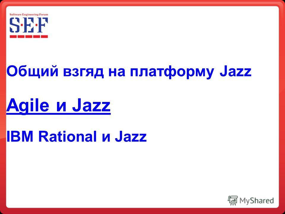 Общий взгляд на платформу Jazz Agile и Jazz IBM Rational и Jazz