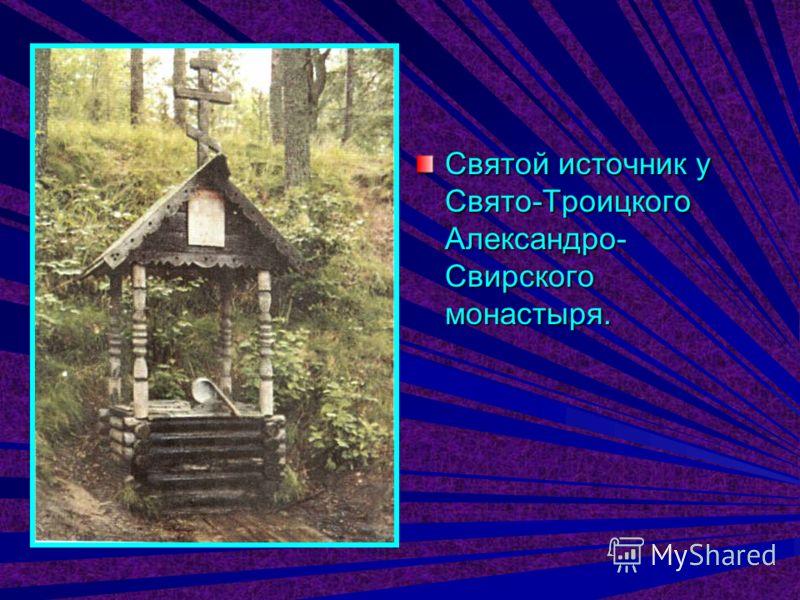 Святой источник у Свято-Троицкого Александро- Свирского монастыря.